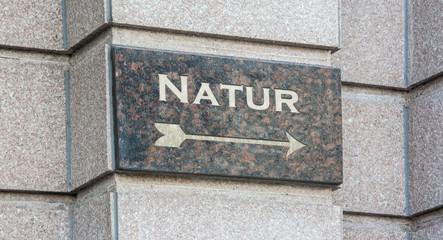 Schild 204 - Natur