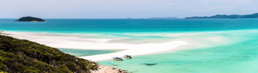 Fototapeta panoramic view of Whitehaven Beach, Whitsundays obraz