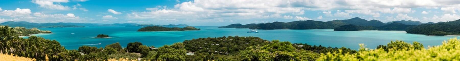 Fototapeta panoramic view of Hamilton Island Resort Queensland Australia obraz