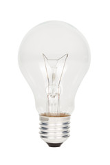 Light bulb isolated on white background.(With clipping path.)