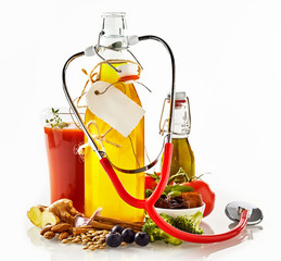 Healthy food ingredients concept