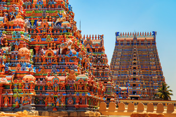 Photo sur Aluminium Edifice religieux Temple of Sri Ranganathaswamy in Trichy.