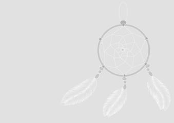 light dreamcatcher on a gray background illustration