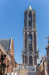 Fotomurales - Church tower Domtoren in the historic center of Utrecht