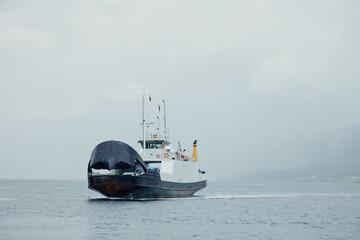 Ferry boat in Norwegian fjord