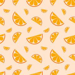 Seamless pattern orange fruit. Vector illustration.