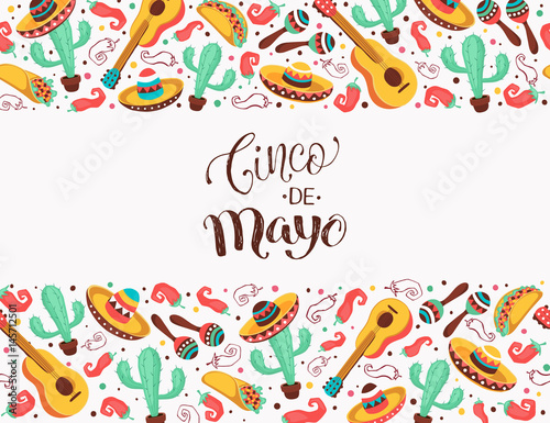 Viva Mexico Poster In Horizontal Stripe Composition Mexican Culture