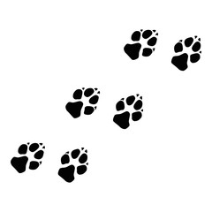 Illustration Paw Prints Dog