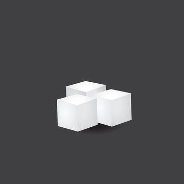 Sugar cube vector icon.