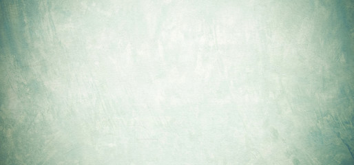 Fotobehang - Blank grunge cement wall texture background, banner, green colored