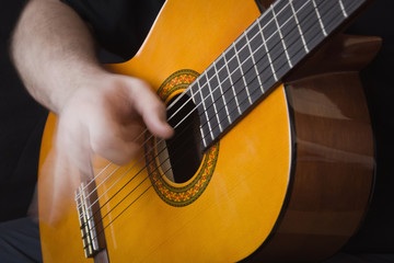 Guitarist Hand Playing