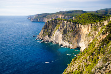Photo sur Aluminium Cote Cliffs of Keri, Zakynthos, Greece