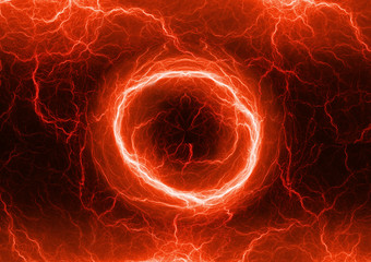 Red electric lighting, abstract electrical storm
