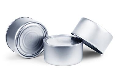 White Blank Tincan Metal Tin Can, Canned Food.