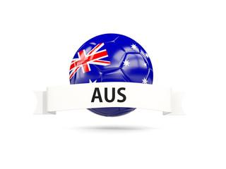 Football with flag of australia