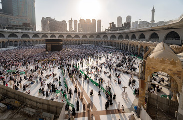 Muslims gathered in Mecca of the world's different countries.