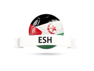 Football with flag of western sahara