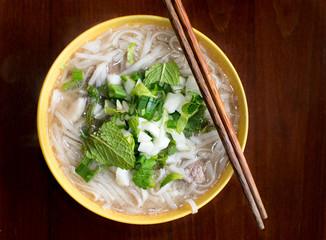 Homemade Vietnamese Pho bo soup