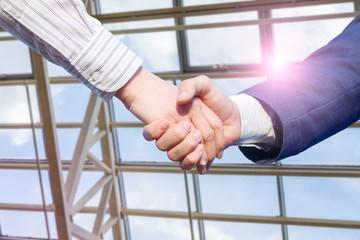 Business handshake concept.