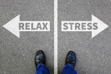 Stress stressed relax relaxed health businessman business concept problem