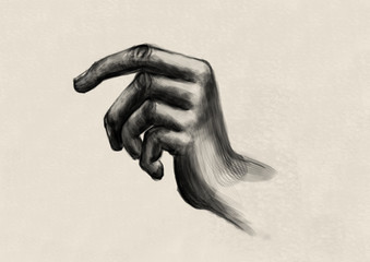 Study of a hand - Digital Painting