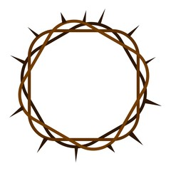 Crown of thorns icon isolated