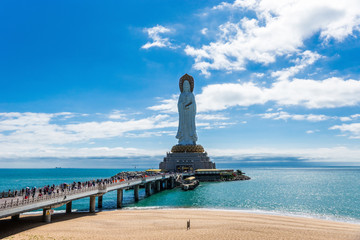 Guan Yin of the South Sea of Sanya. Nanshan temple in Hainan province.