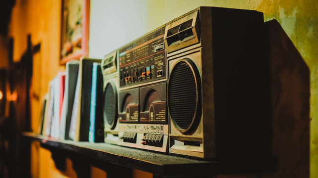 Vintage Tape Player, Radio