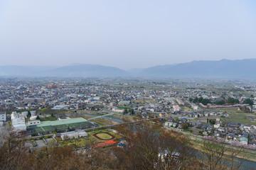 長野 松本城山公園からの眺め
