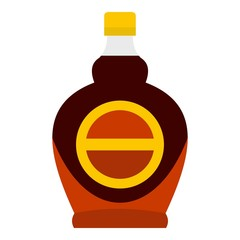 Bottle of maple syrup icon isolated