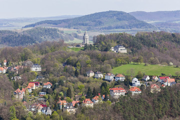 historic city eisenach germany from above