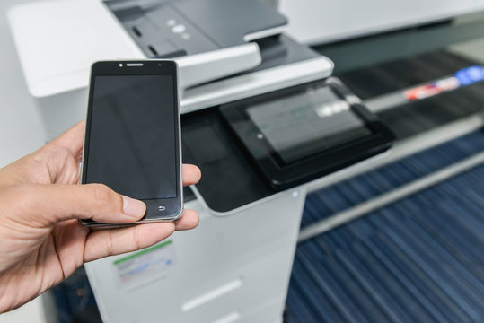Using smart phone with printer to print the document