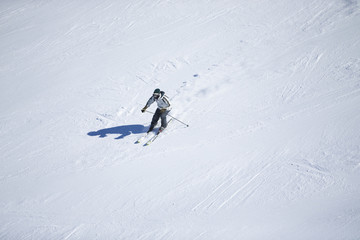 Unknown skier in Sierra Nevada, Granada.