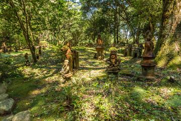 Haniwa statues garden in Heiwadai Park in Miyazaki, Kyushu, Japan