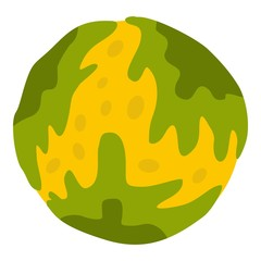 Little planet icon isolated