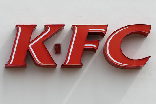 A Kentucky Fried Chicken (KFC) logo is pictured in North Miami Beach