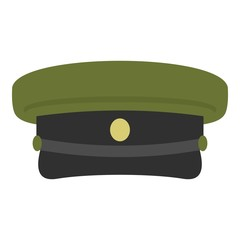 Military hat icon isolated