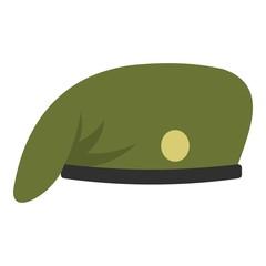 Military cap icon isolated