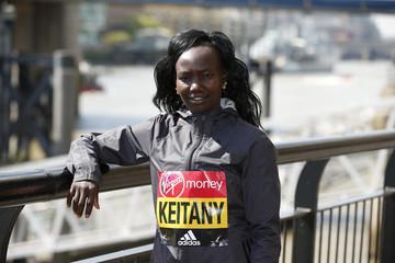 Mary Keitany of Kenya poses for a photo ahead of the 2017 Virgin Money London Marathon