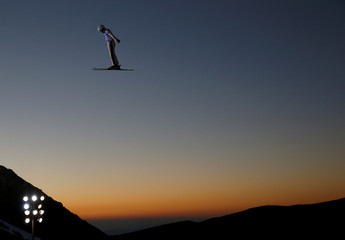 Freestyle Skiing - FIS Snowboarding and Freestyle Skiing World Championships - Men's Aerials training