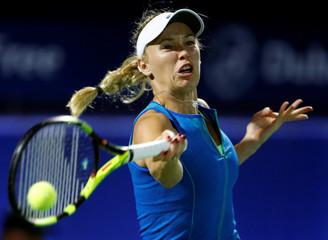 Tennis - Dubai Open - Women's Singles - Caroline Wozniacki of Denmark v Catherine Bellis of the USA