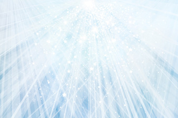 Vector bokeh, sparkle, blue background.