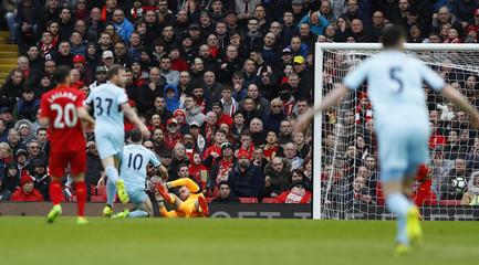 Burnley's Ashley Barnes scores their first goal