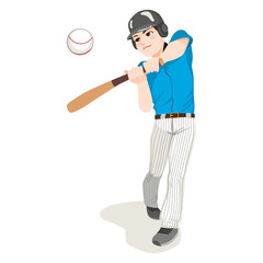 Young male professional baseball player in action