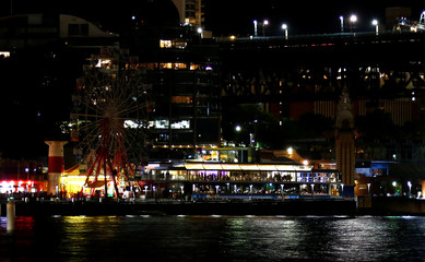 The rides at Luna Park seen during the tenth anniversary of Earth Hour in Sydney