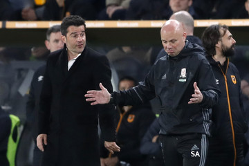 Hull City manager Marco Silva clashes with Middlesbrough caretaker manager Steve Agnew