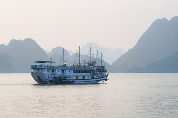 Cruise boat on Halong bay, Vietnam