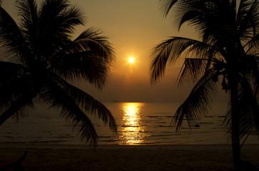 Sunset in Samui island, Thailand