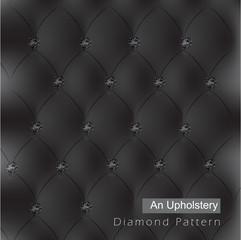 elegant black diamond an upholstery pattern background vector