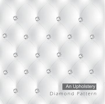 elegant white diamond an upholstery pattern background vector
